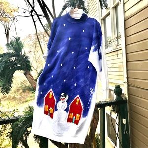 Long Sweatshirt Style dress For Christmas.